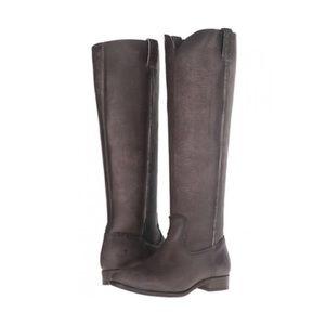 frye / cara tall boots in smoke nwot western